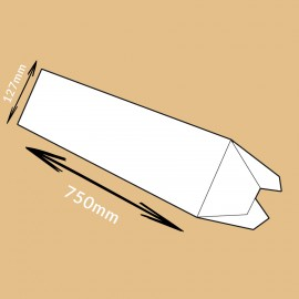 Tube triangulaire 750x127x127mm
