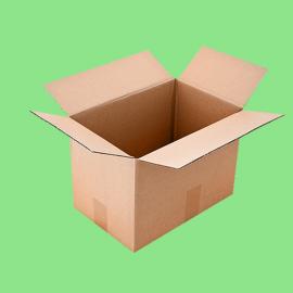 Caisse carton simple cannelure 250x250x100mm