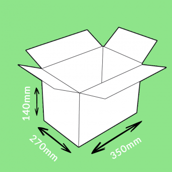Caisse carton simple cannelure 350x270x140mm