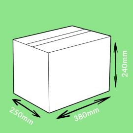 Caisse carton simple cannelure 380x250x240mm