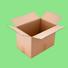 Caisse carton simple cannelure 550x350x330mm