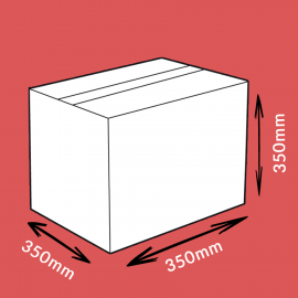 Caisse carton double cannelure 350x350x350mm