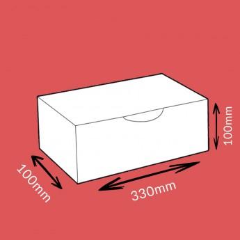 Boite postale blanche 330x100x100mm
