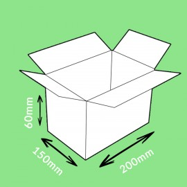 Caisse carton simple cannelure 200x150x60mm