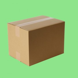 Caisse carton simple cannelure 230x190x120mm