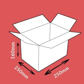 Caisse carton double cannelure 250x250x160mm