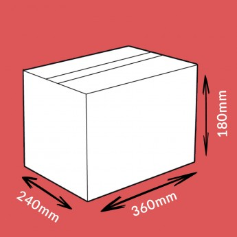 Caisse carton double cannelure 360x240x180mm
