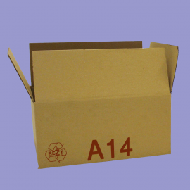 Caisse palettisable A14 - dimensions extérieures 400x300x150mm - BC