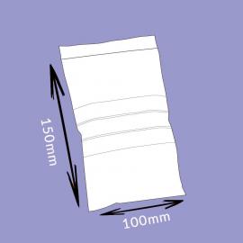 Sachet flexi-pression avec bandes de marquage - 100x150mm - 50µ