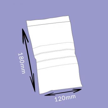 Sachet flexi-pression avec bandes de marquage - 120x180mm - 50µ