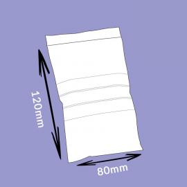 Sachet flexi-pression avec bandes de marquage - 80x120mm - 50µ