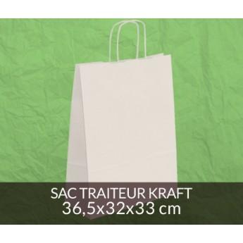 Sac papier kraft 36x32 cm - couleur blanc
