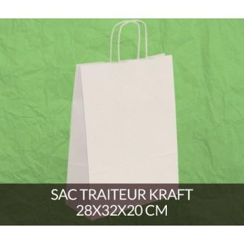 Sac papier kraft 28x32 cm - couleur blanc