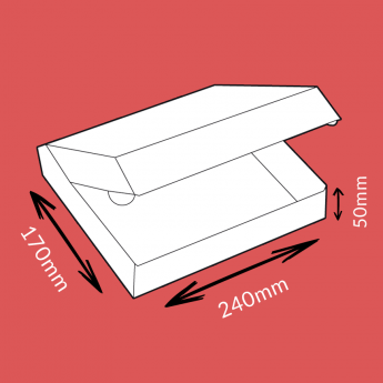 Boite postale blanche 240x170x50mm
