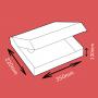 Boite postale blanche 350x220x130mm