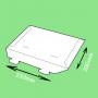 Pochette carton languette 250x200mm