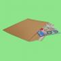 Pochette carton adhésive 360x250mm